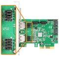 AXAGON PCES-SH4 řadič řadič 4x int./2x ext. SATA 6G