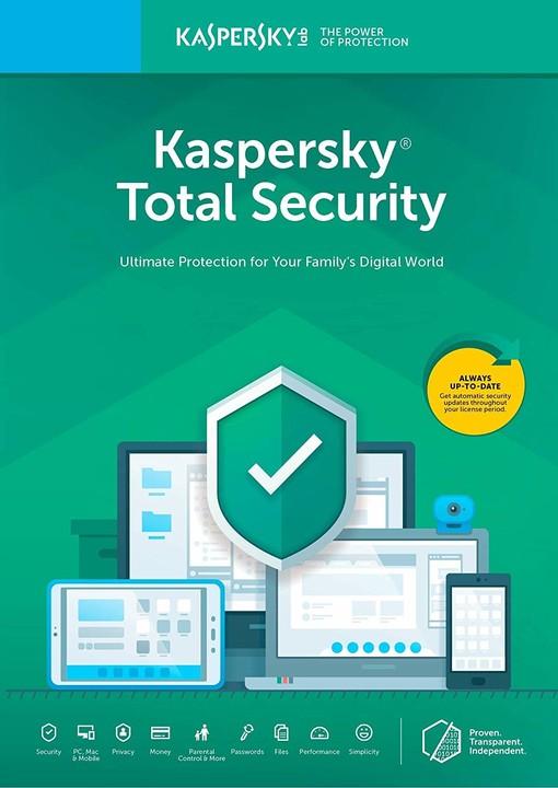 Kaspersky Total Security multi-device 2019 CZ pro 2 zařízení na 24 měsíců, nová licence