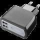CellularLine síťová nabíječka s 2 x USB konektorem, 15W/3.1A, černá