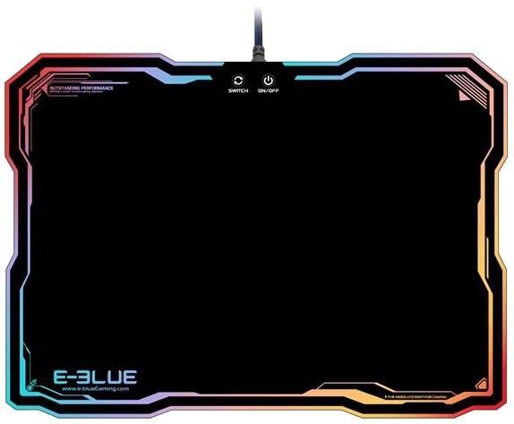 E-Blue RGB, herní, podsvícená, plastová