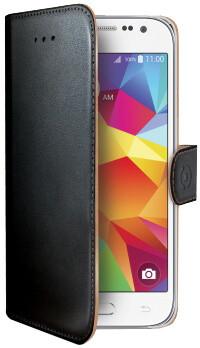 CELLY Wally pouzdro pro Samsung Galaxy Core Prime, PU kůže, černá