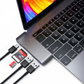 Satechi Type-C USB Passthrough, šedá
