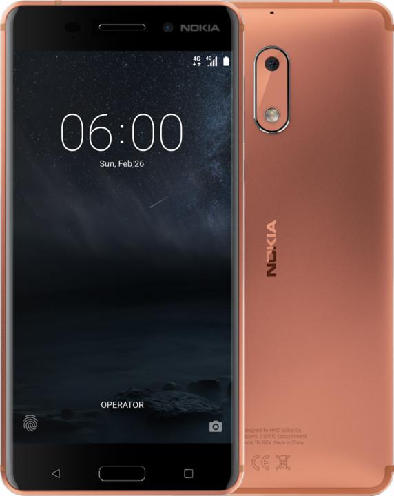 Nokia 6, Dual Sim, měděná