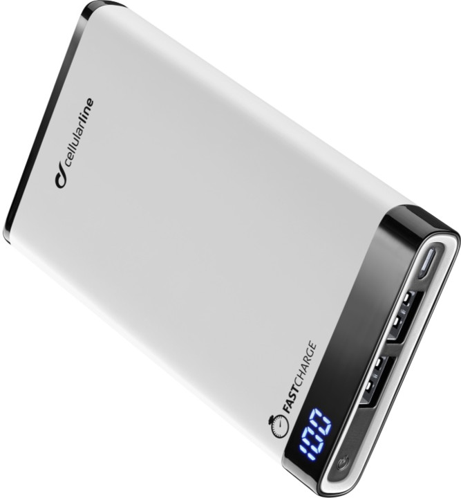 CellularLine FREEPOWER MANTA, 8000mAh, bílá