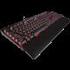 CORSAIR Gaming K70 LUX, herní, Cherry MX Blue, červené LED, černá, NA