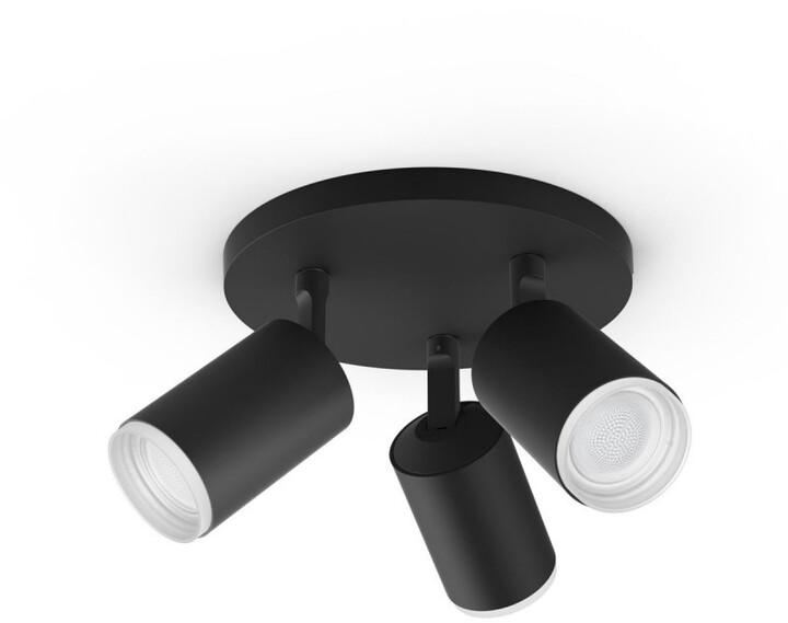 Philips bodové svítidlo Hue Fugato GU10, 3x5.7W, černá