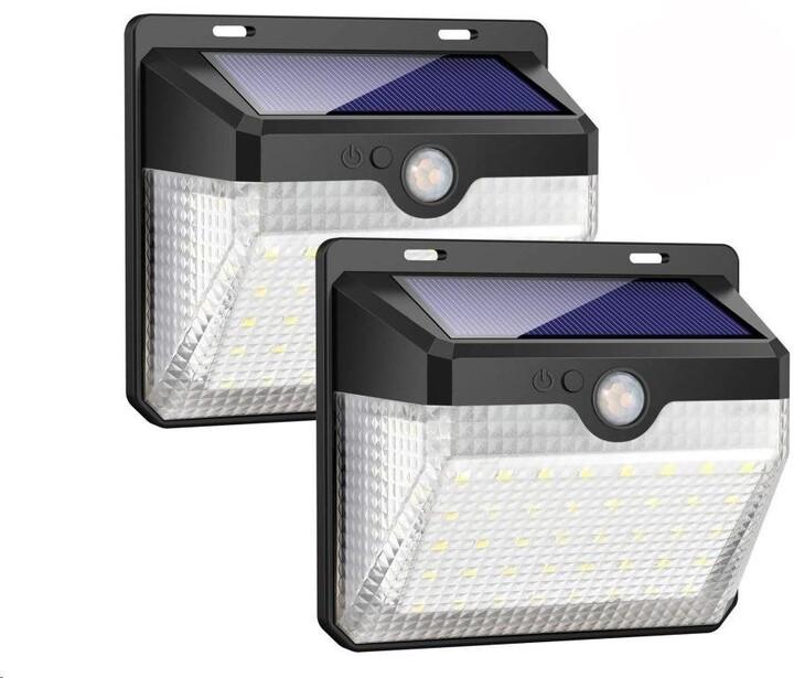 Viking venkovní světlo M60, LED, solární, s pohybovým senzorem, černá