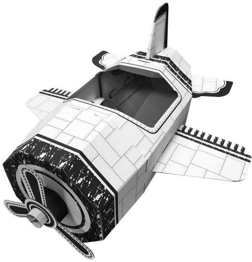 Stavebnice Fleg - Letadlo z kartonu, papírové