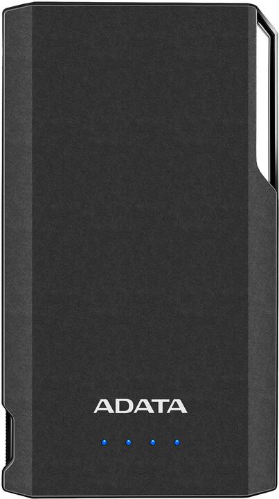 ADATA powerbanka S10000, externí baterie pro mobil/tablet 10000mAh, černá