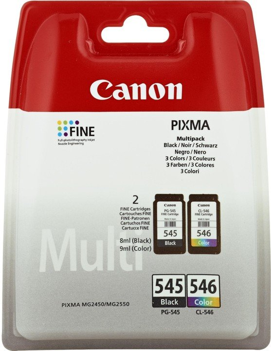 Canon PG-545XL/CL-546XL Photo Value pack + 4x6 Photo Paper (GP-501 50sheets)