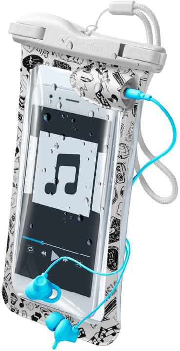 """CellularLine voděodolné pouzdro VOYAGER MUSIC pro mobilní telefony do 6,3"""" s 3,5 mm konektorem"""