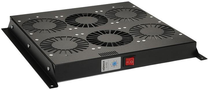 Solarix ventilační jednotka VJ-R2-T-B , 2 ventilátory s termostatem, VJ-R2