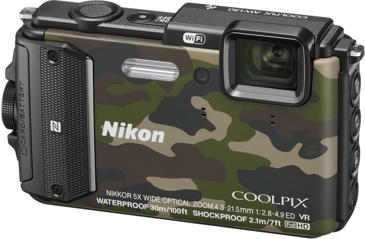 Nikon Coolpix AW130, camouflage