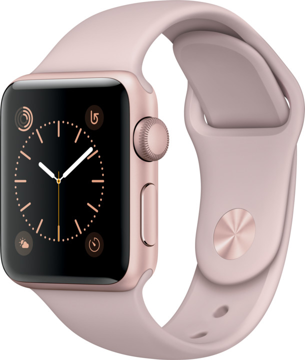 Apple Watch 2 38mm Rose Gold Aluminium Case with Pink Sand Sport Band