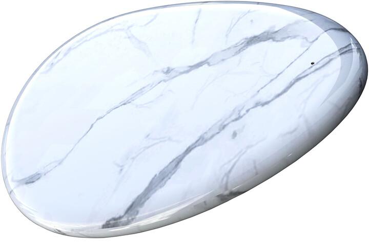 Sandberg bezdrátová nabíječka Qi Marble 10W, bílá