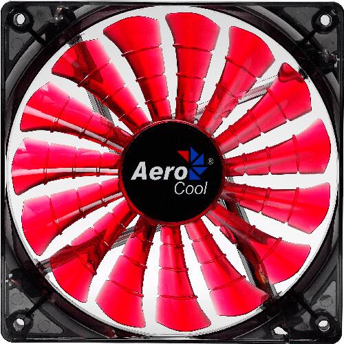 AeroCool Shark Fan, 140 mm, červená