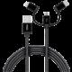 YENKEE YCU 400 BK kabel USB / 3v1 / 1m