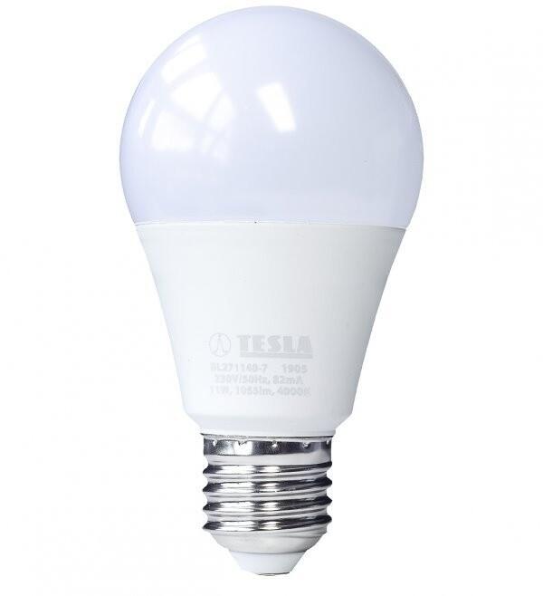TESLA LED žárovka BULB E27, 11W, 4000K, denní bílá