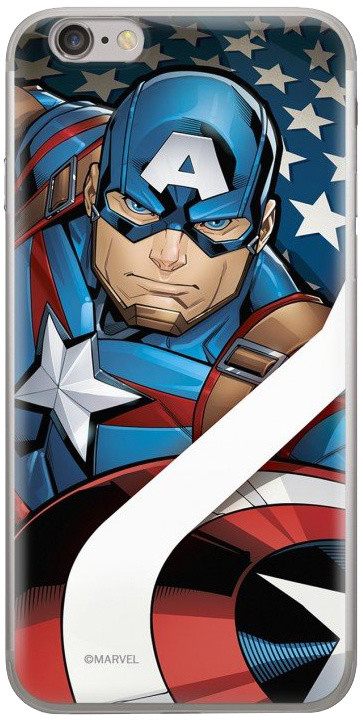MARVEL Captain America 004 zadní kryt pro Huawei Y5 2018, červená