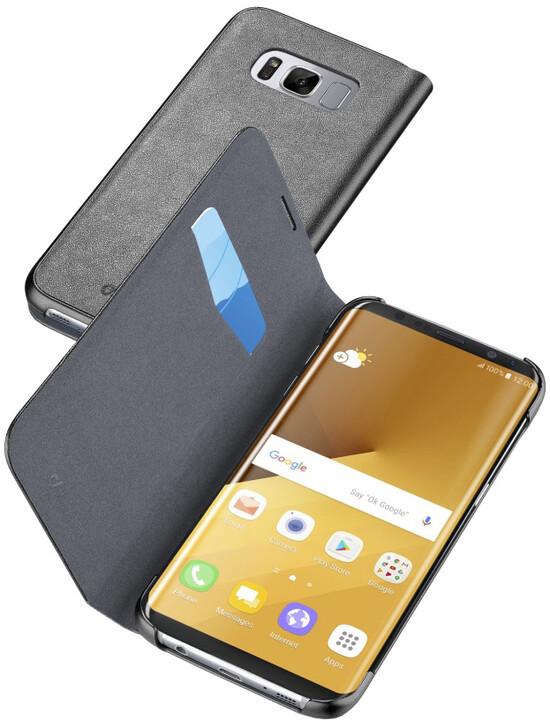 CellularLine Book Essential pouzdro typu kniha pro Samsung Galaxy S8 Plus, černé