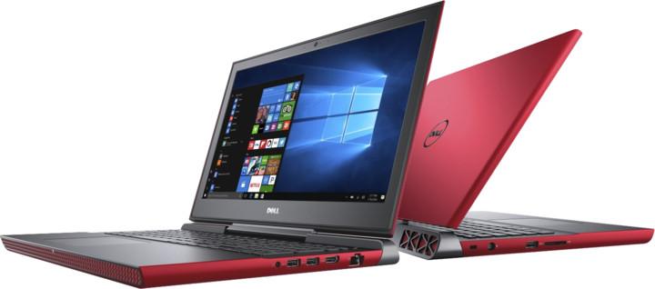Dell Inspiron 15 Gaming (7566), červená