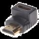 PremiumCord Adapter HDMI M/F, zahnutý do pravého úhlu