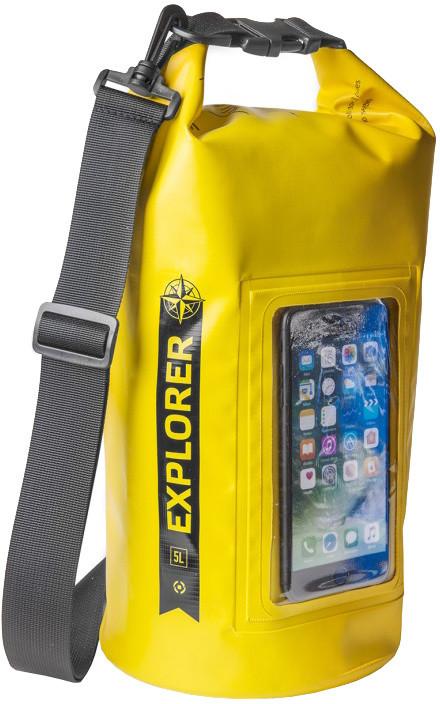 """CELLY voděodolný vak Explorer 5L s kapsou na telefon do 6,2"""", žlutý"""