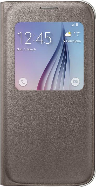 Samsung pouzdro S View EF-CG920P pro Galaxy S6 (G920), zlatá