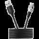 Canyon kabel Type C nabíjecí, magnetický, USB2.0, output 5V/2A, OD 3.2mm, 1m, černá