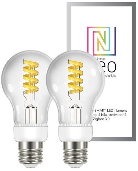 IMMAX NEO Smart sada žárovek filament LED 2xE27 5W teplá studená bílá stmívatelná Zigbee 3.0
