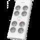 Philips přepěťová ochrana, 8x zásuvka, vypínač, 2m, šedá