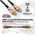 Club3D kabel hybridní optický HDMI 2.0, Ultra High Speed,(M/M), 50m