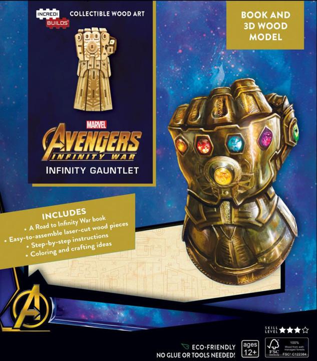 Stavebnice Marvel - Infinity Gauntlet (dřevěná)