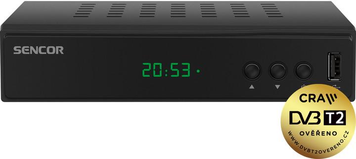 Sencor SDB 5003T, DVB-T2, černá