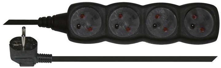 Emos prodlužovací kabel 4 zásuvky 5m, černá