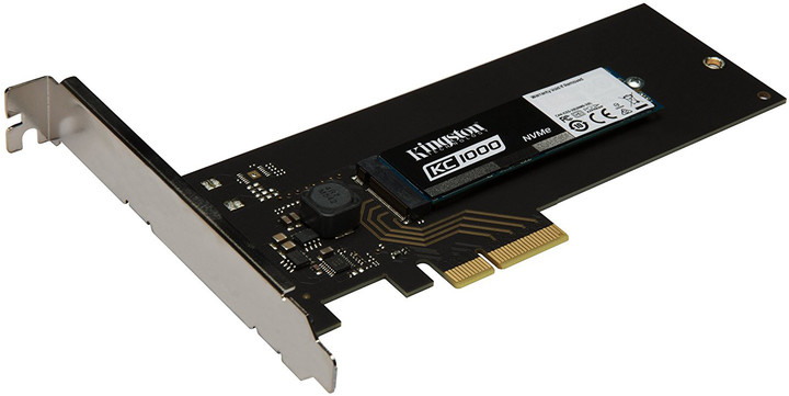 Kingston KC1000 NVMe PCIe SSD M.2+HHHL AIC - 240GB
