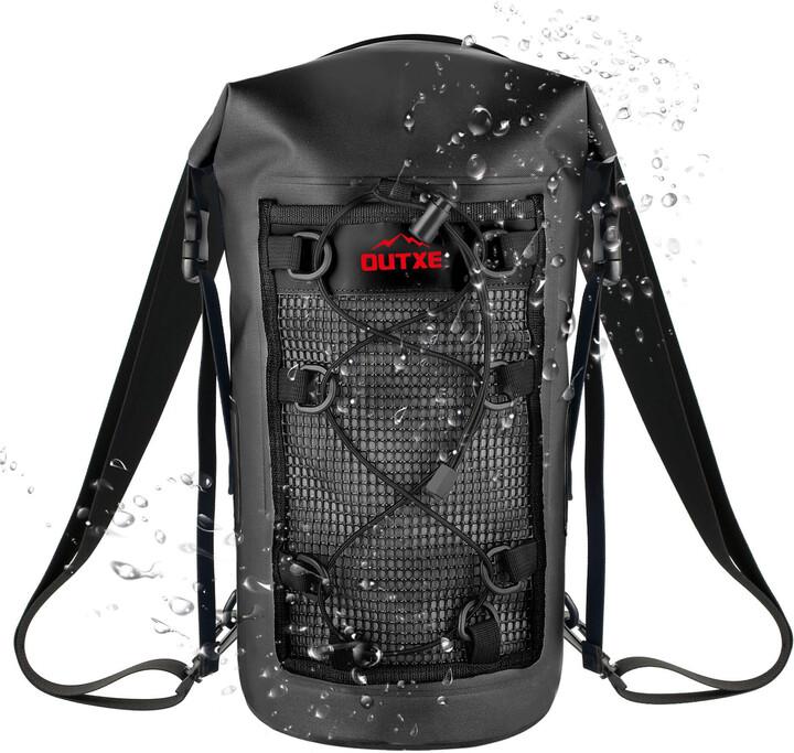 OUTXE IPX7 100% Voděodolný TPU 10L batoh, black (EU Blister)