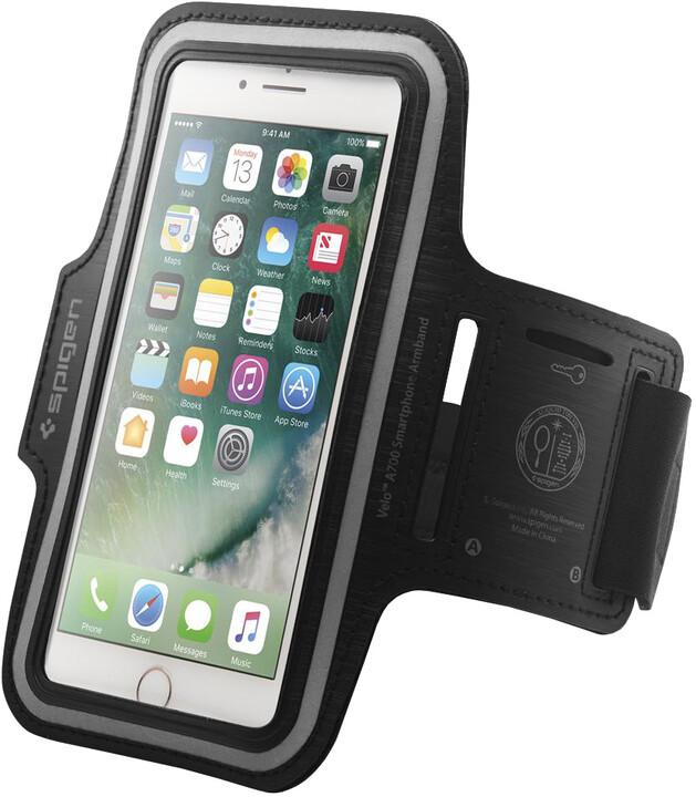 """Spigen sportovní pouzdro Velo A700 pro smartphone 6"""", černá"""