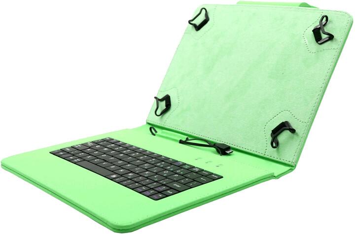 """C-TECH PROTECT pouzdro s klávesnicí pro 10,1"""", NUTKC-04, zelená"""