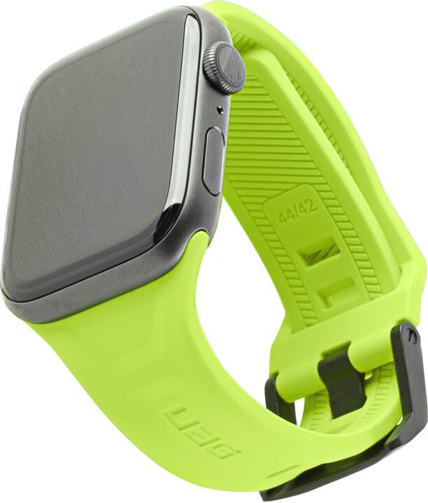 UAG silikonový řemínek Scout Strap pro Apple Watch, 42/44mm, neonově zelená