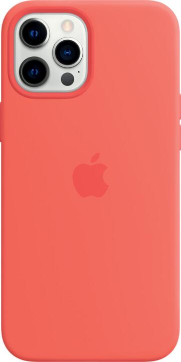 Apple silikonový kryt s MagSafe pro iPhone 12 Pro Max, růžová
