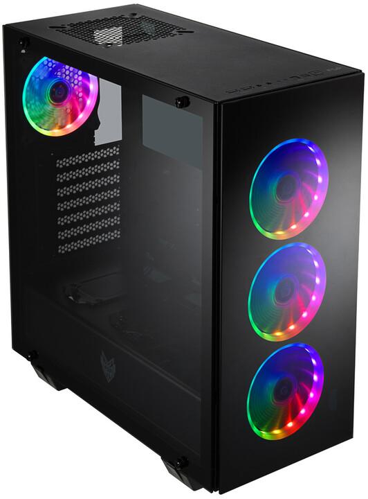 Fortron CMT510 PLUS, 4x ARGB ventilátor, okno, černá