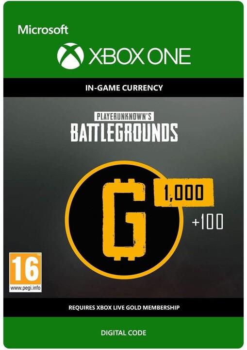 Playerunknown's Battlegrounds - 1100 G-Coin (Xbox ONE) - elektronicky
