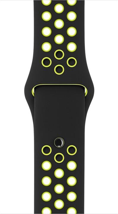 Apple watch náramek 42mm Black/Volt Nike Sport Band - S/M & M/L