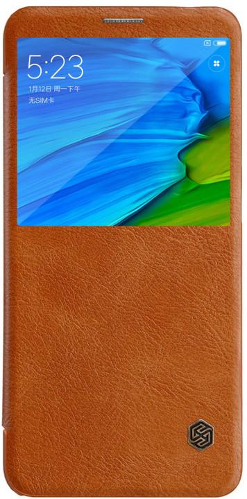 Nillkin Qin S-View Pouzdro pro Xiaomi Redmi Note 5, hnědý