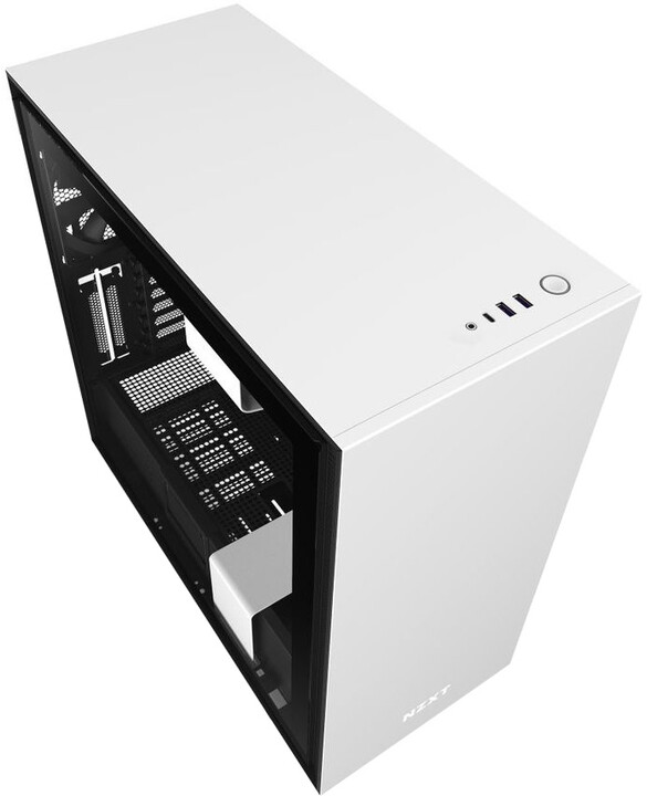 NZXT H710, okno, bílá