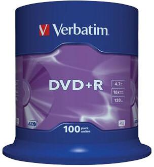 Verbatim DVD+R 16x 4,7GB spindl 100ks
