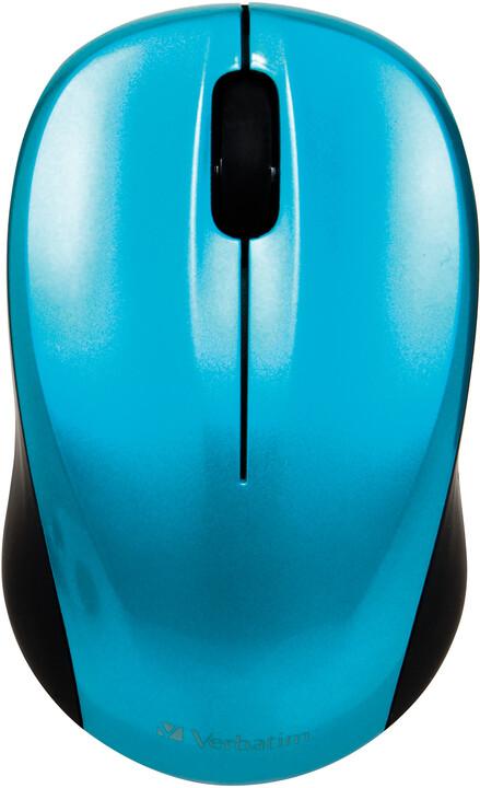 Verbatim Go Nano Wireless Mouse, karibsky modrá