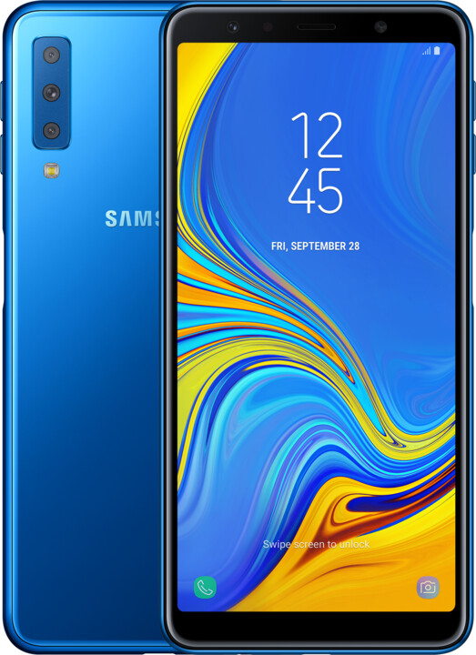 Samsung Galaxy A7 (2018), Dual Sim, 4GB/64GB, modrá