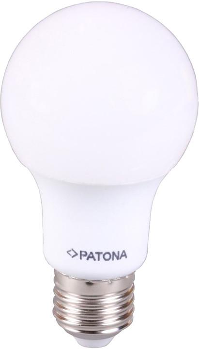 Patona E27/230V, A60, SMD5630, 7W, teplá bílá, 580lm